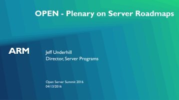OPEN - Plenary on Server Roadmaps