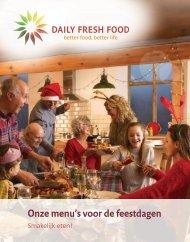 Onze menu's voor de feestdagen