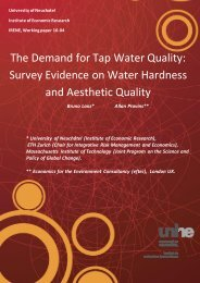 Survey Evidence on Water Hardness and Aesthetic Quality