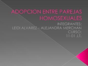 ADOPCION ENTRE PAREJAS HOMOSEXUALES