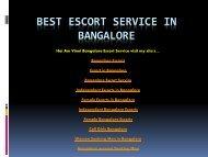 BEST ESCORT SERVICE IN BANGALORE