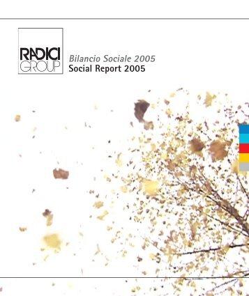 Bilancio Sociale 2005 Social Report 2005
