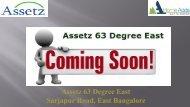 Assetz 63 degree east