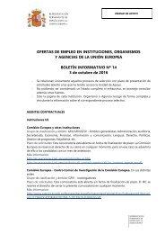 Y AGENCIAS DE LA UNIÓN EUROPEA BOLETÍN INFORMATIVO Nº 14 3 de octubre de 2016