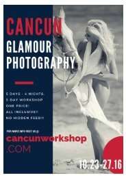 Cancun, Mexico Glamour Photography Workshop All Inclusive!