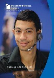 ANNUAL REPORT 2009 - Disability Services Australia