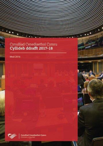 Cyllideb ddrafft 2017-18