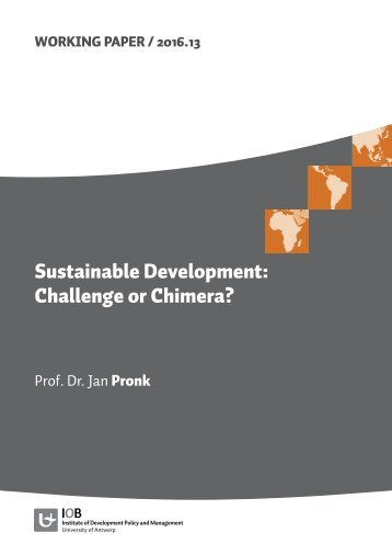 Sustainable Development Challenge or Chimera?