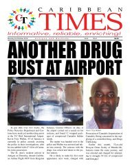 Caribbean Times 6th Issue - Monday 3rd October 2016