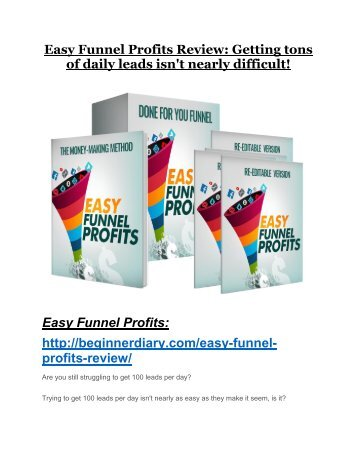 Easy Funnel Profits REVIEW and GIANT $21600 bonuses