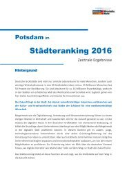 Städteranking Potsdam 2016
