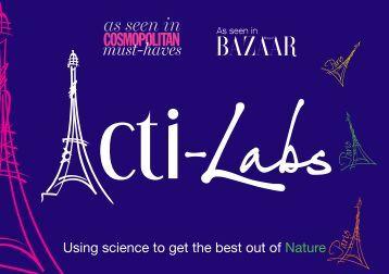 acti-labs web catalogue - uk 2016