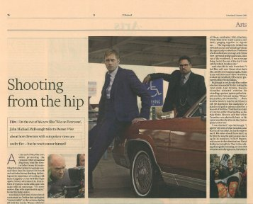 John Michael McDonagh Interview, Financial Times