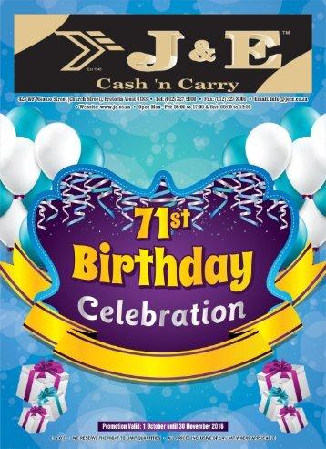J&E Birthday Catalogue 2016