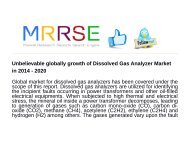 Unbelievable globally growth of Dissolved Gas Analyzer Market in 2014 - 2020
