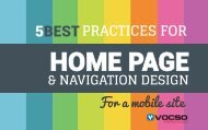 5 Best practices for Home page and Navigation Design for a Mobile Site