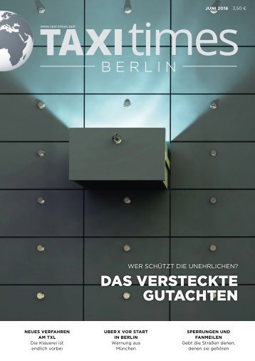 Taxi Times Berlin - Juni 2016