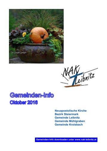 Gemeinde-Info Oktober-November 2016