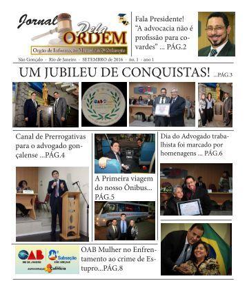 Jornal Pela Ordem! - Ano 1 2a ed - AGO-16