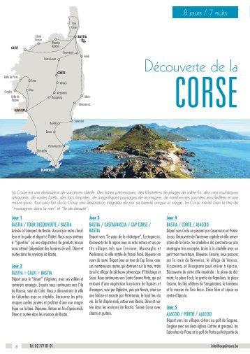 Découverte de la Corse brochure groupe 2017