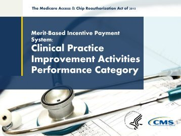 Improvement Activities Performance Category