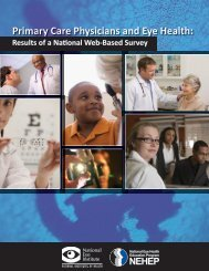 Primary Care Physicians and Eye Health - National Eye Institute ...
