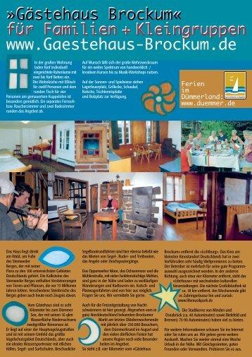 Gästehaus Brockum« für Familien + Kleingruppe