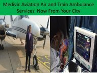 Medivic Aviation Provide Air and Train Ambulance Services in Kolkata and Patna