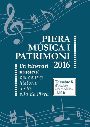 MÚSICA I PATRIMONI 2016