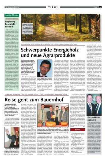 Schwerpunkte Energieholz und neue Agrarprodukte Reise geht zum ...
