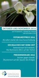 Programm des Evang. Kirchenkreises Halle-Saalkreis für Oktober und November 2016