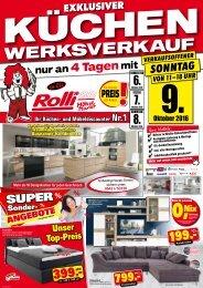 Exklusiver Küchenwerksverkauf! Verkaufsoffener Sonntag!