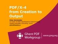 GWG X4 Workflow - Ghent PDF Workgroup