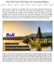 Visit Bali Tour and enjoy an amazing holiday with Flamingo