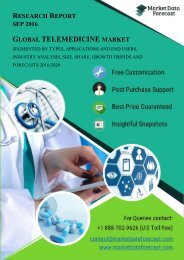 Global Telemedicine Industry : Key Events, Opportunities and Forecasts, 2015 - 2020