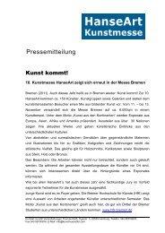 Pressemitteilung - Messe Bremen