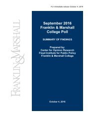 S Fr Septe ranklin Col ember n & M lege P r 2016 Marsh Poll 6 all
