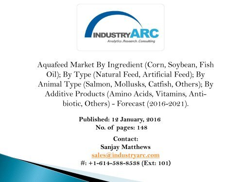 Aquafeed Market: thriving fish feed demand for the