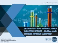 INDUSTRIAL MINERAL WOOL INDUSTRY REPORT
