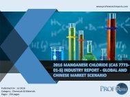 MANGANESE CHLORIDE (CAS 7773-01-5) INDUSTRY REPORT