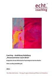"Coaching – Ausbildung Heidelberg ""Personzentrierter Coach (DCG ..."