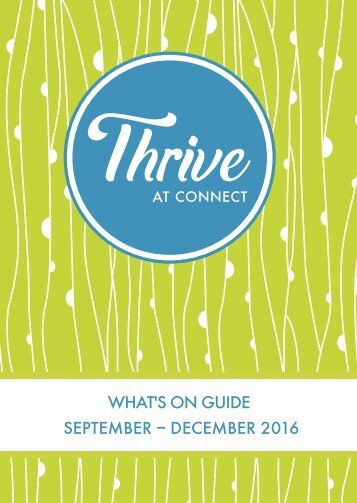 Thrive at Connect - What's on Guide