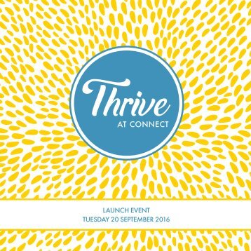Thrive at Connect launch album