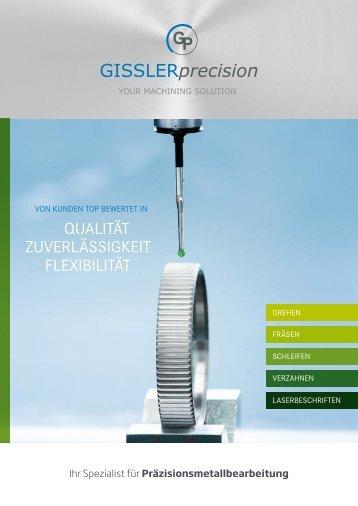 GISSLERprecission - Ihr Spezialist für Präzisionsmetallbearbeitung