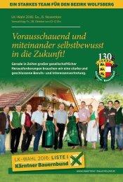 Bezirksprogramm Wolfsberg