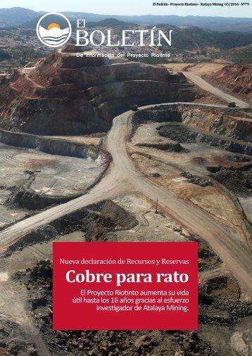 El Boletín - Proyecto Riotinto - 03/2016
