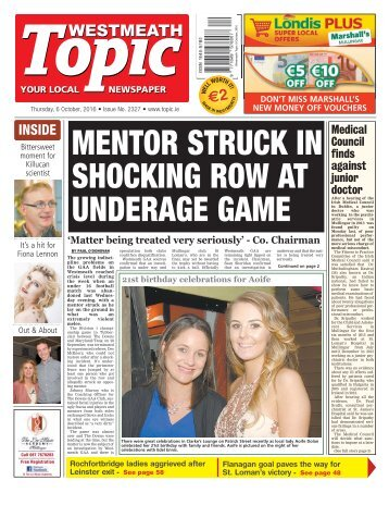 Westmeath Topic - 6 October 2016