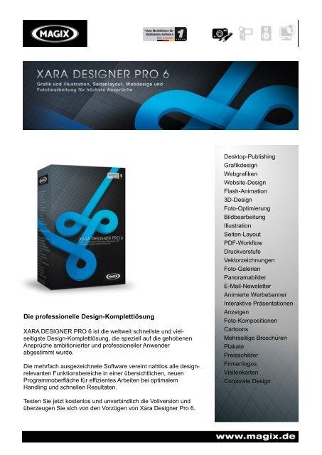 Die Professionelle Design Komplettlösung Xara