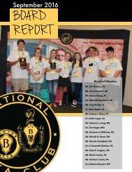 Sept Board Report