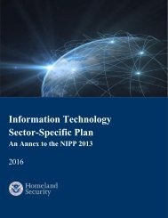 Information Technology Sector-Specific Plan